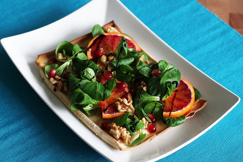 Focaccia al formaggio arance e melograno - Panificio Pasticceria Tossini - Recco