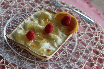 Focaccia al formaggio arancia e lamponi - Panificio Pasticceria Tossini - Recco