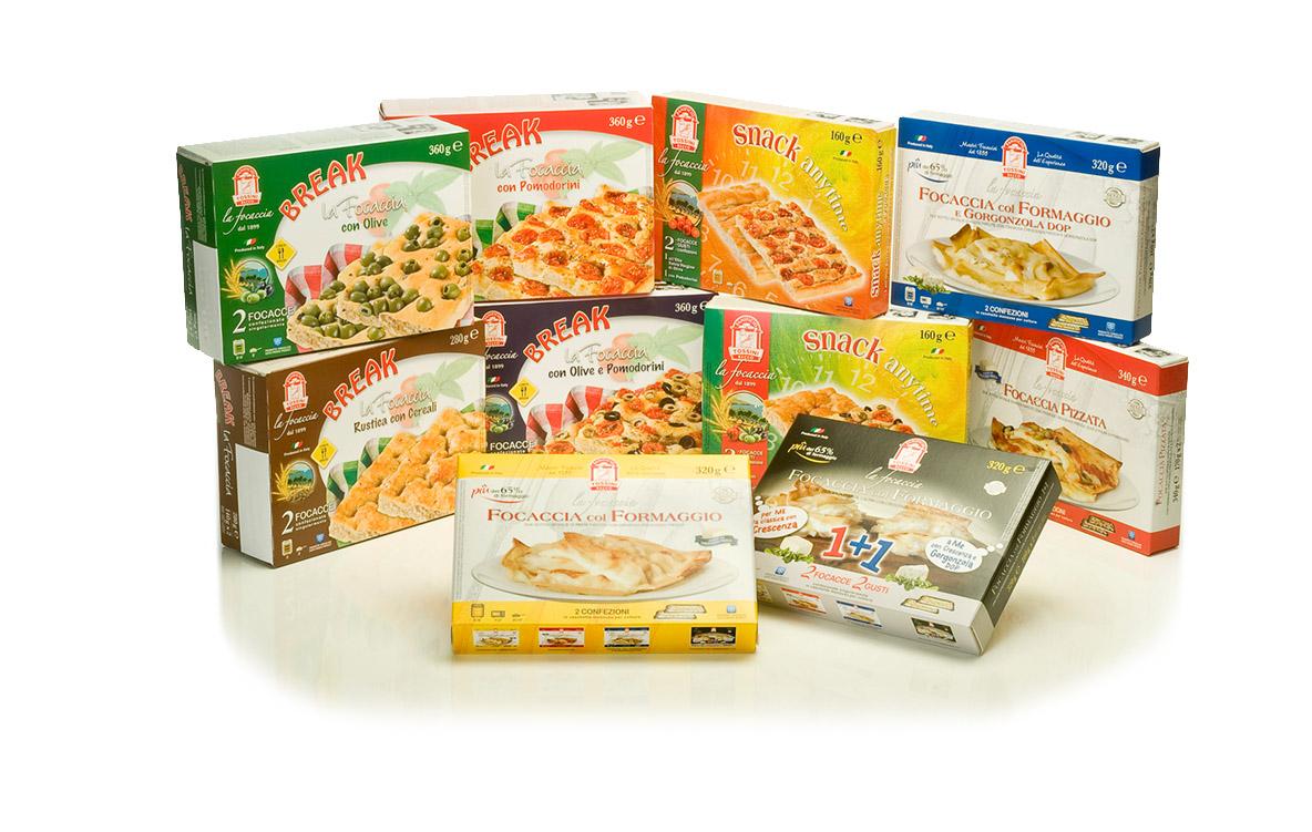 Linea Retail - Astucci - Linee Break e Snak - Panificio Pasticerria Fratelli Tossini - Recco