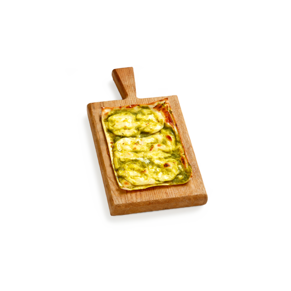 Monoporzione Focaccia col Formaggio asparagi e zafferano - Panificio Pasticceria Tossini - REcco