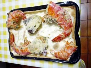 Focaccia col formaggio alla marinara