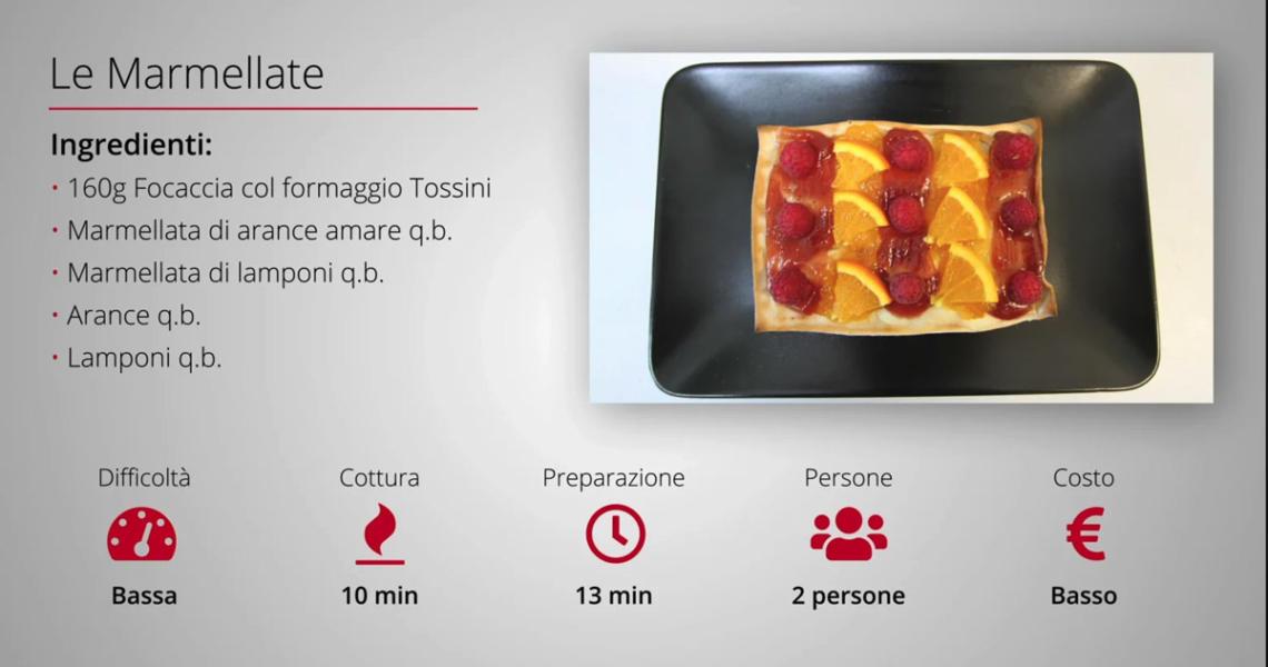 Video ricette: focaccia col formaggio, le marmellate. Tossini