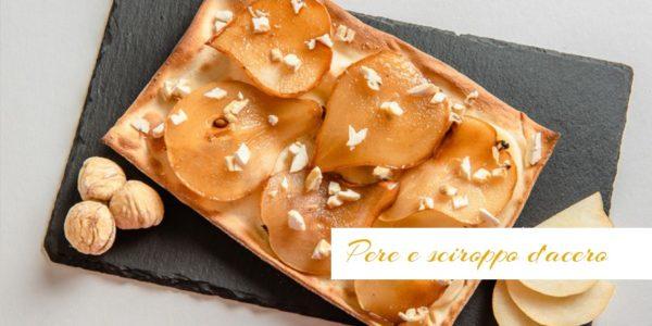 Focaccial col formaggio, pere e sciroppo d'acero - Panificio Pasticceria Tossini