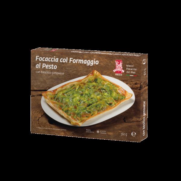 Focaccia col formaggio al pesto - Panificio Pasticceria Fratelli Tossini - Recco, Genova - Maestri focacciai dal 1899 - La Focaccia è Tossini, Tossini è la Focaccia