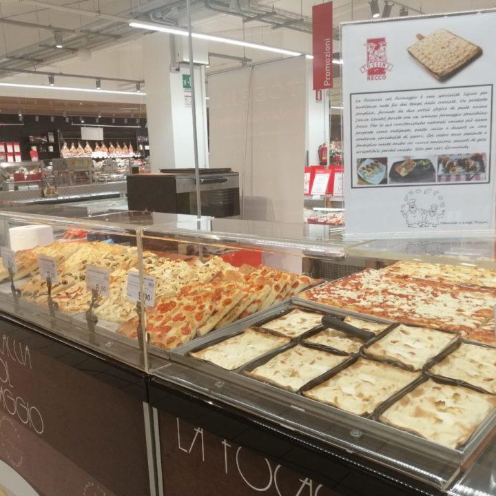 Focaccia col formaggio Tossini, degustazioni Coop (2)