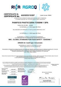 BRC 2019 - Panificio Pasticceria Tossini