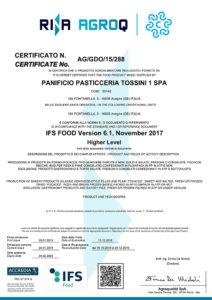 IFS 2019 - Panificio Pasticceria Tossini
