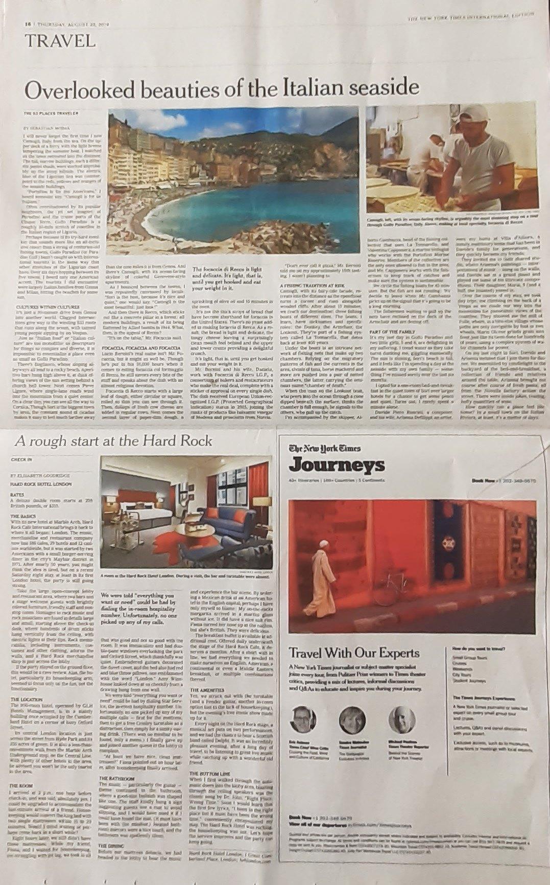 Tossini sul New York Times