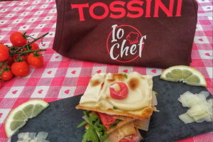Focaccia col formaggio al carpaccio, Tossini