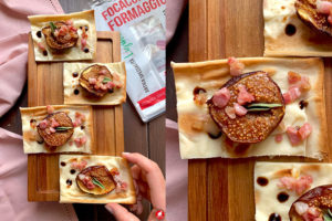 Focaccia col formaggio con fichi e pancetta - lamozzarellaincarrozza