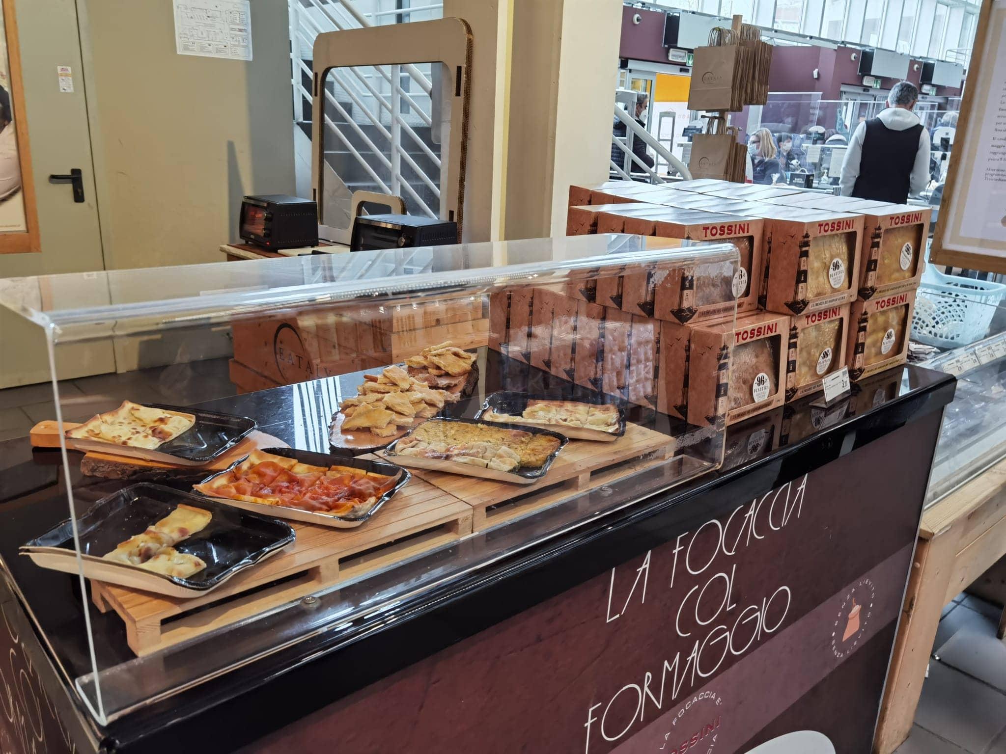 Il corner Tossini nello Store Eataly Roma.