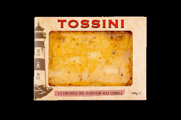 Focaccia del marinaio alle cipolle - Panificio Pasticceria Fratelli Tossini - Recco, Genova - Maestri focacciai dal 1899 - La Focaccia è Tossini, Tossini è la Focaccia