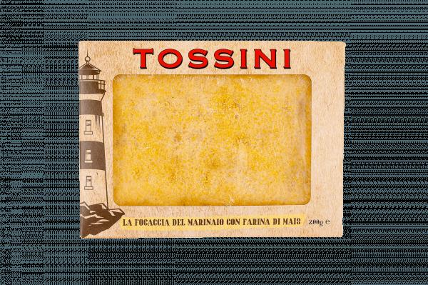 Focaccia del marinaio con farina di mais - Panificio Pasticceria Fratelli Tossini - Recco, Genova - Maestri focacciai dal 1899 - La Focaccia è Tossini, Tossini è la Focaccia