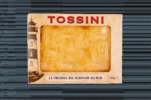 Focaccia del marinaio all'olio - Panificio Pasticceria Fratelli Tossini - Recco, Genova - Maestri focacciai dal 1899 - La Focaccia è Tossini, Tossini è la Focaccia