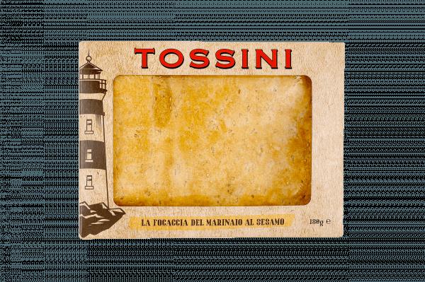 Focaccia del marinaio al sesamo - Panificio Pasticceria Fratelli Tossini - Recco, Genova - Maestri focacciai dal 1899 - La Focaccia è Tossini, Tossini è la Focaccia