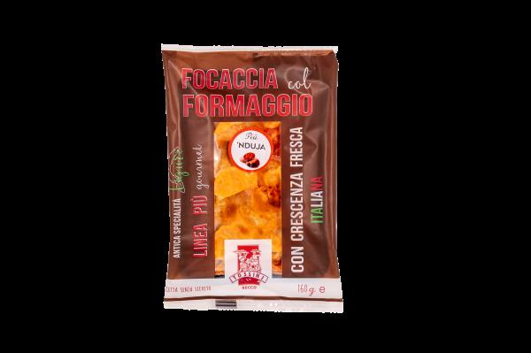Focaccia col formaggio più 'nduja - Panificio Pasticceria Fratelli Tossini - Recco, Genova - Maestri focacciai dal 1899 - La Focaccia è Tossini, Tossini è la Focaccia